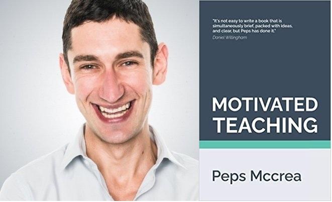 Peps McCrea and book