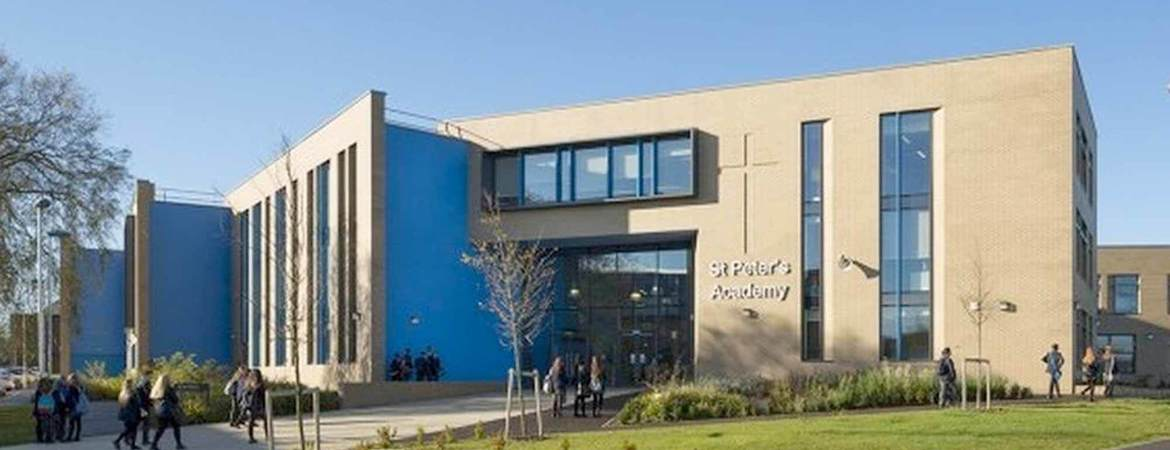 St Peter's Academy Building Banner